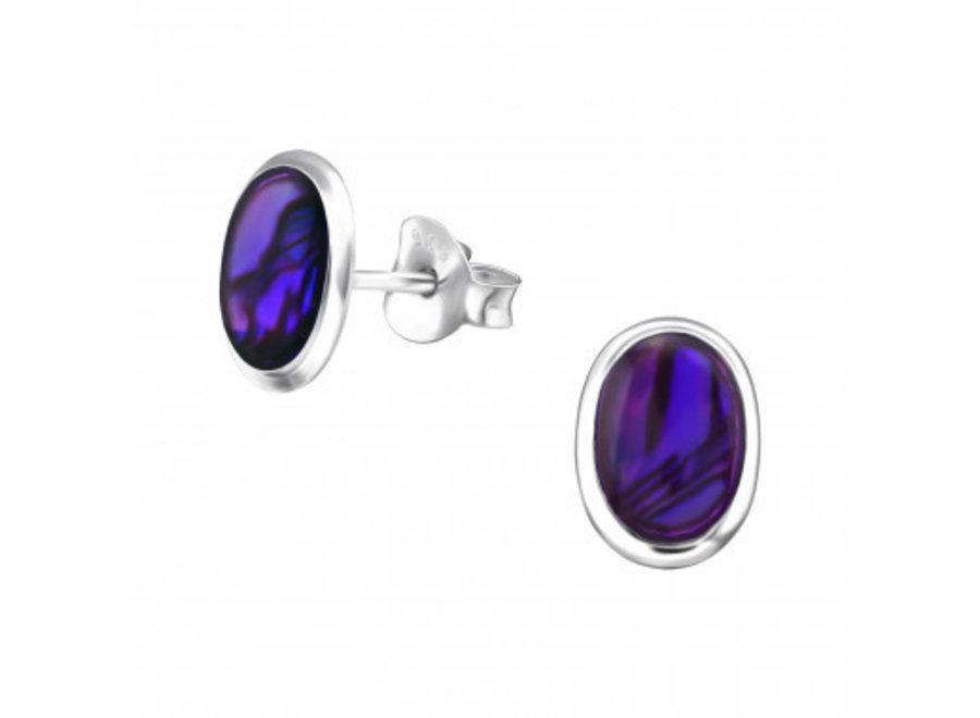 Shell earrings oval