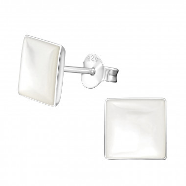 Shell ear studs square-2