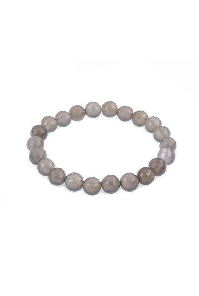 Gemstone bracelet gray agate