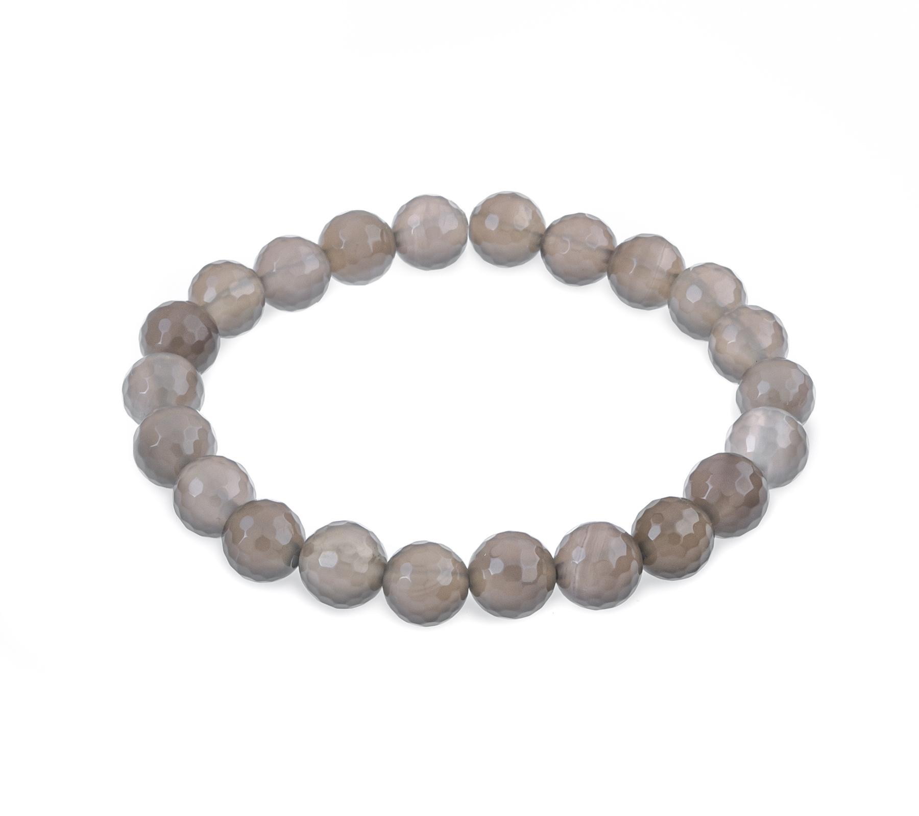 Gemstone bracelet gray agate-1