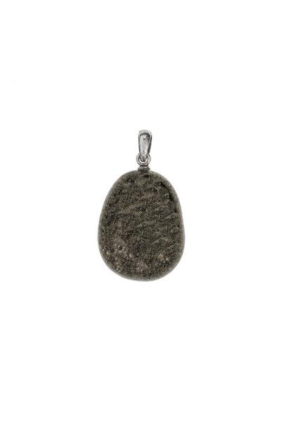 Gemstone pendant pyrite