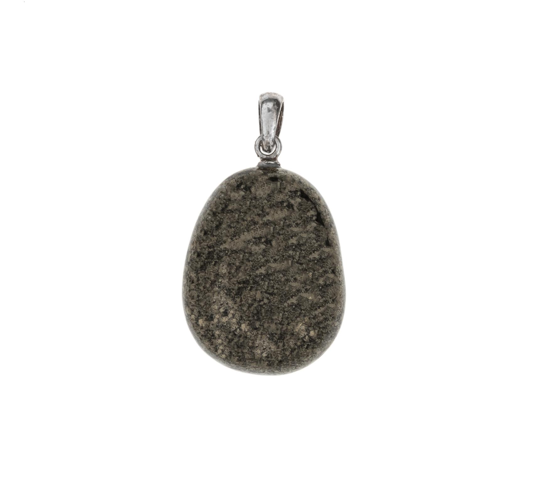 Gemstone pendant pyrite-1