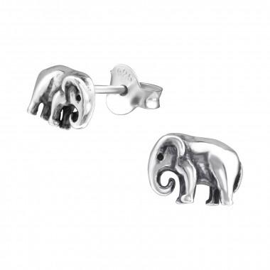 Zilveren oorstekers olifant-1