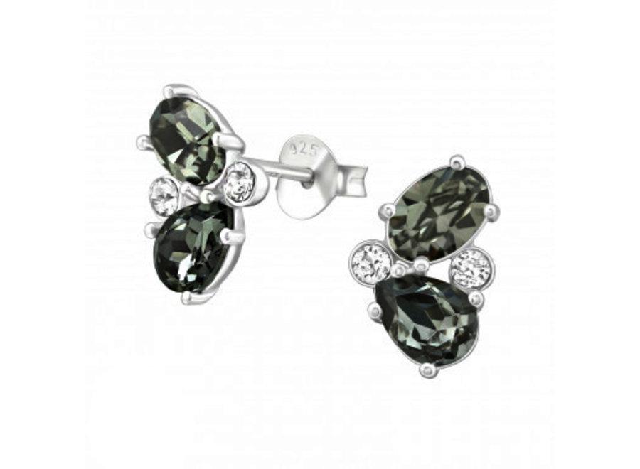 Zilveren oorstekers met zirkonia stenen