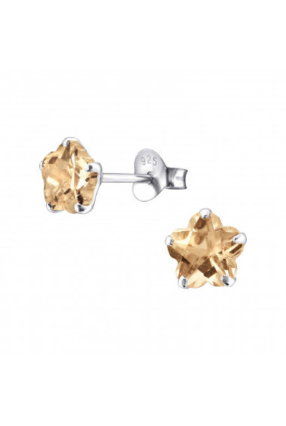 Zilveren oorstekers met zirkonia steentje