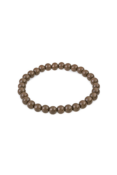 Glass bead bracelet terra brown