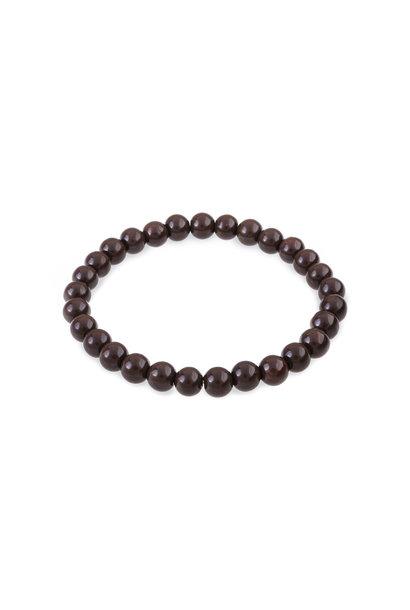 Glass beads bracelet brown