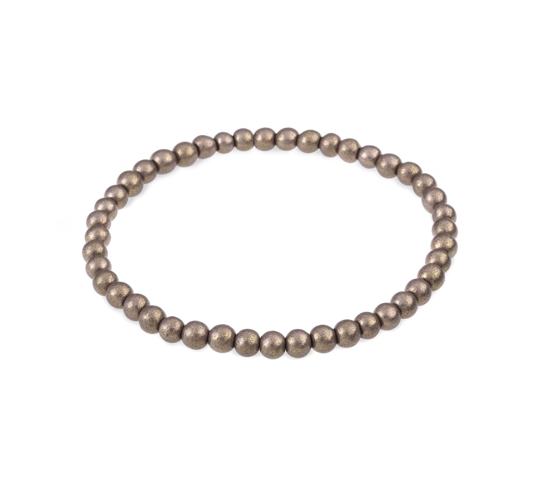 Glaskralen armband grijs metallic-1
