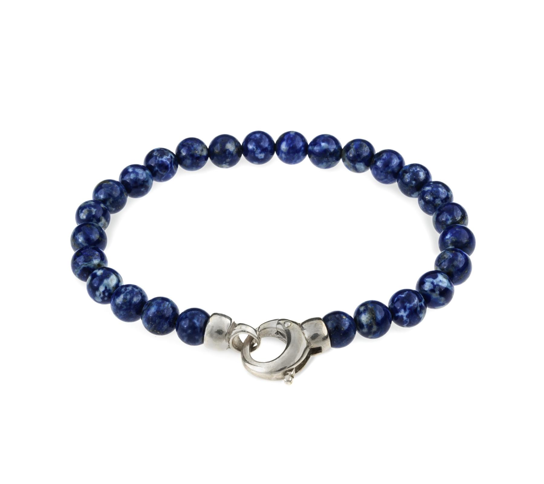 Edelsteen armband lapis lazuli met slot-1