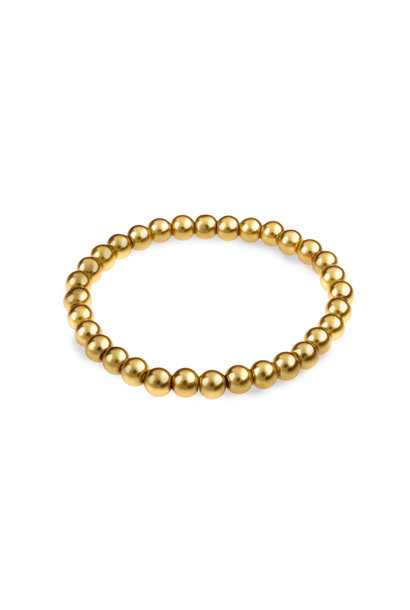 Glass pearl bracelet gold