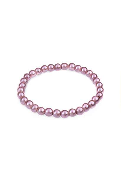 Glass pearl bracelet old pink