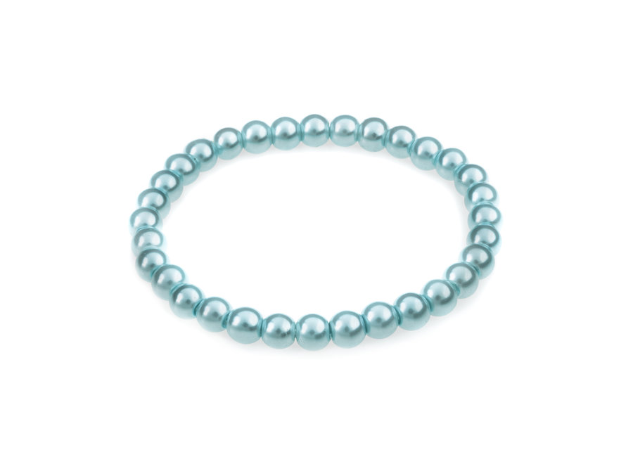 Glasparel armband licht blauw