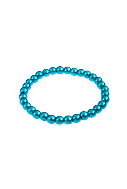 Glasparel armband turquoise