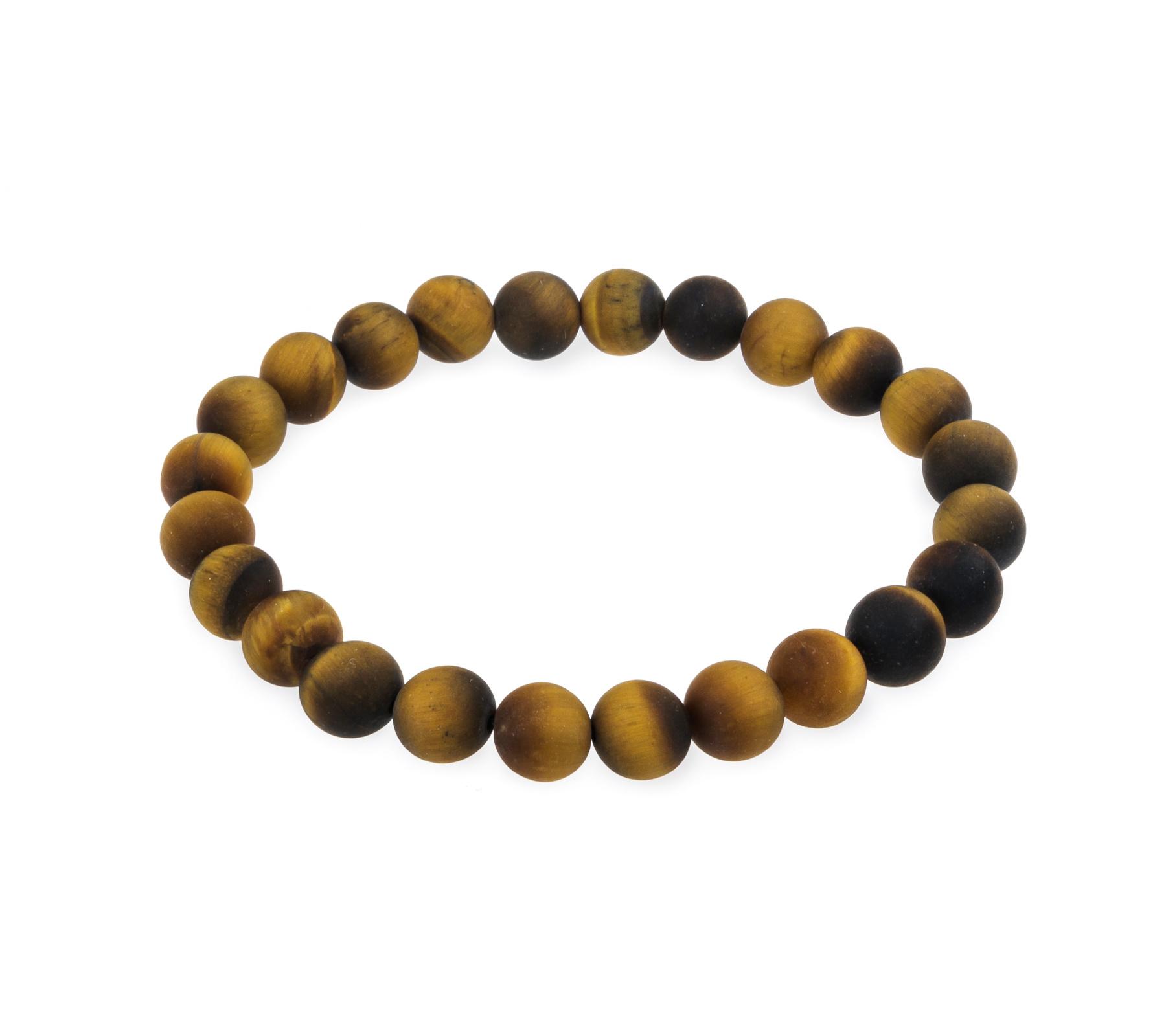 Edelsteen armband tijgeroog mat-1