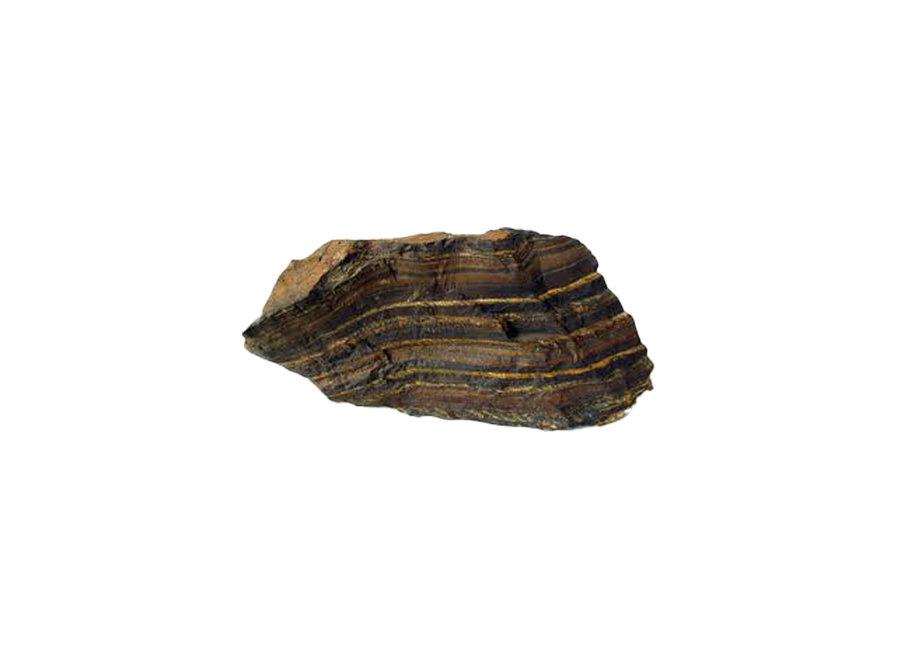 Edelsteen armband tijgeroog mat
