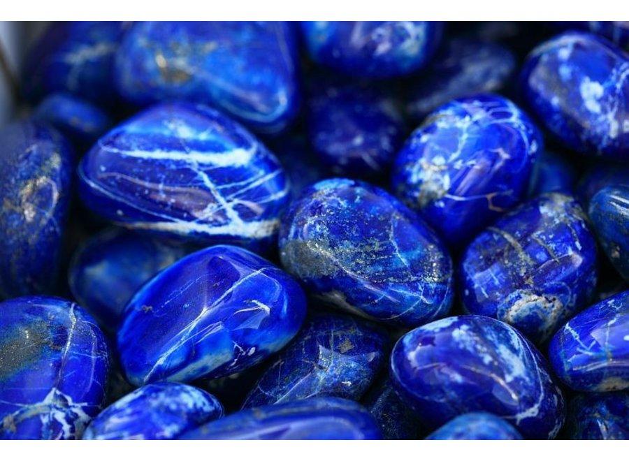 Edelsteen armband lapis lazuli met slot