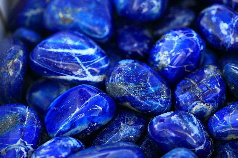 Edelsteen armband lapis lazuli met slot-3
