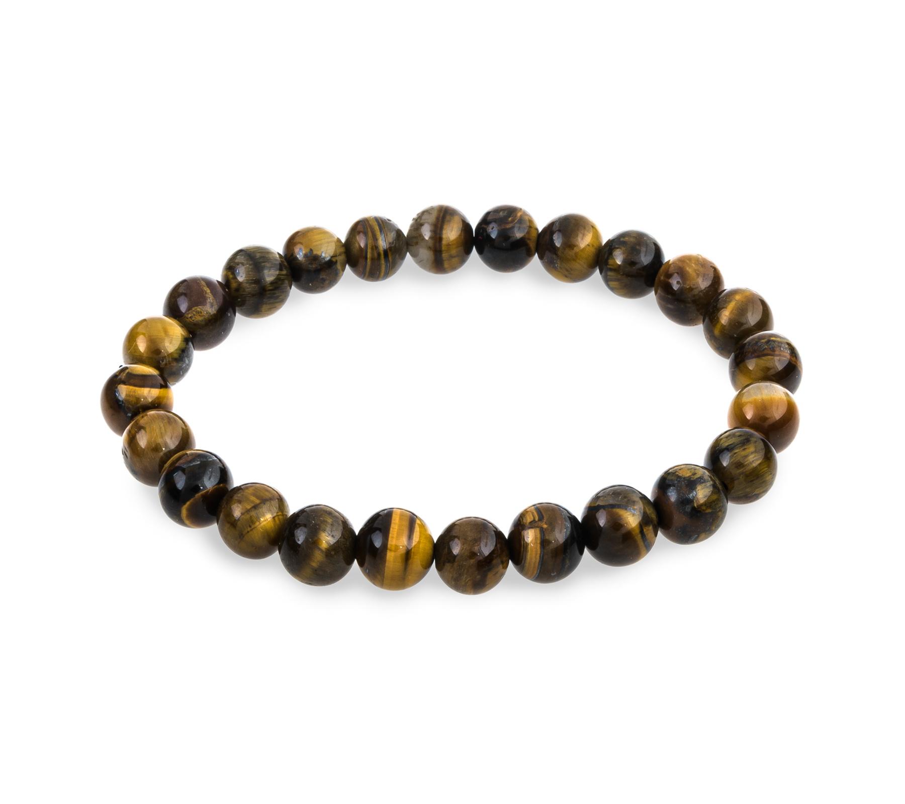 Gemstone bracelet tiger eye 8mm-1