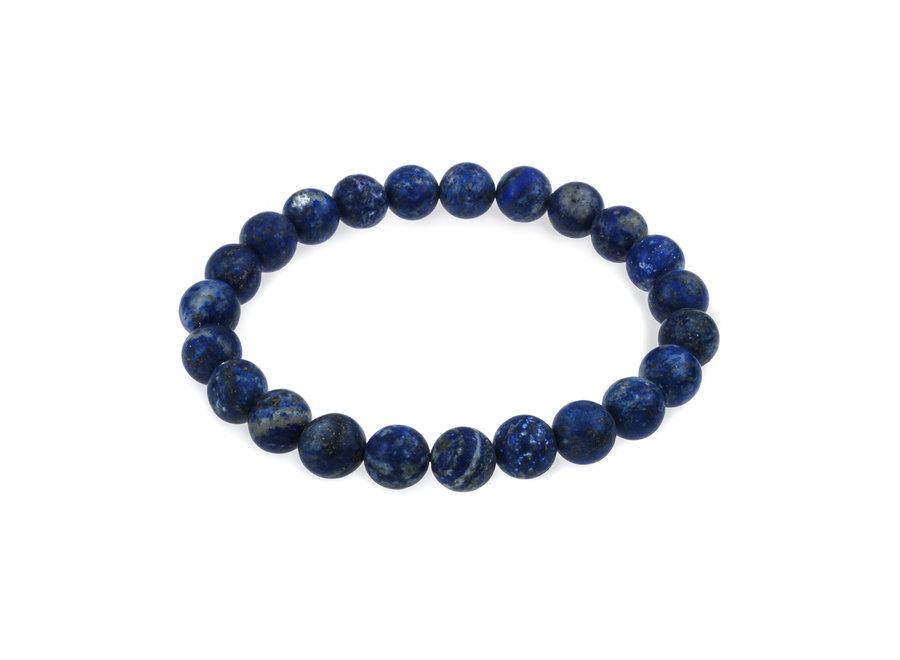 Gemstone bracelet lapis lazuli matte