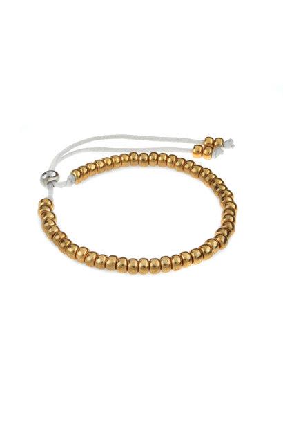 Miyuki armband goud