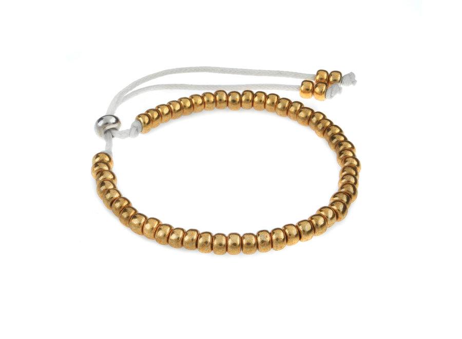 Miyuki bracelet gold
