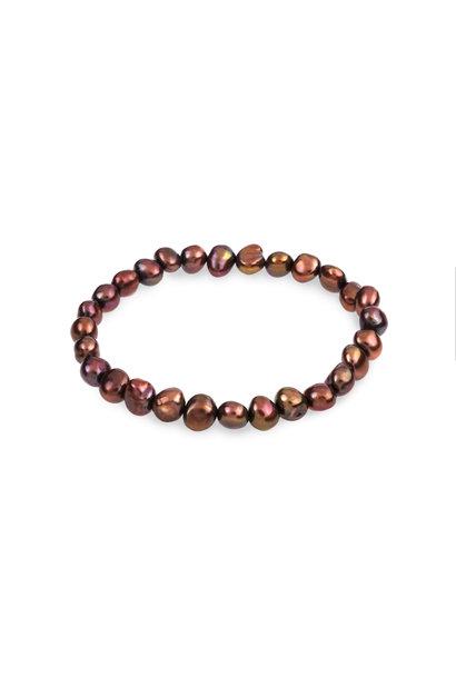 Freshwater pearl bracelet brown