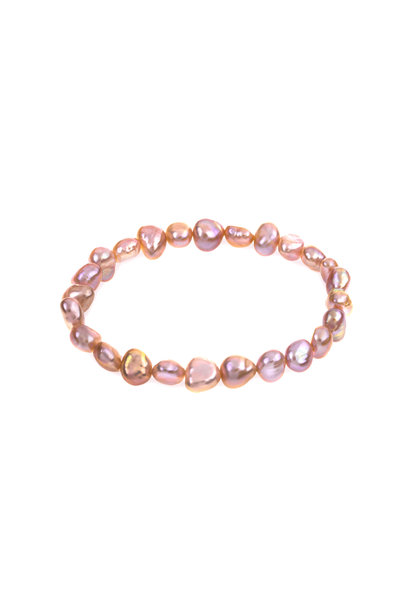 Freshwater pearl bracelet Salmon