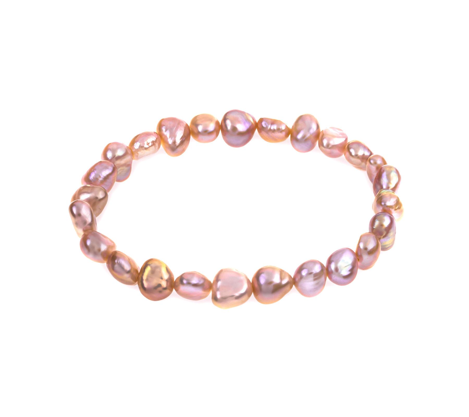Freshwater pearl bracelet Salmon-1