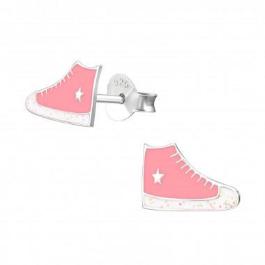 Silver ear studs sneakers-1