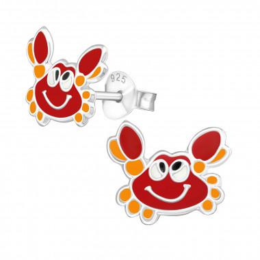 Silver ear studs crab-1