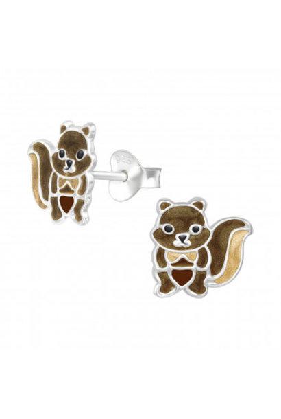 Zilveren oorstekers eekhoorn