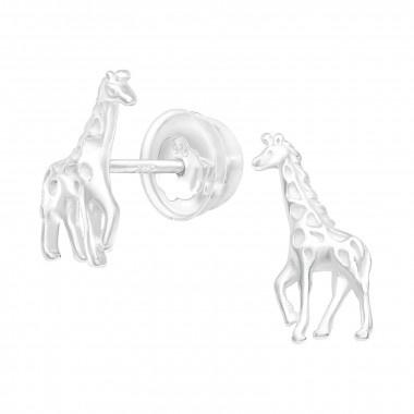 Zilveren oorstekers giraf-1
