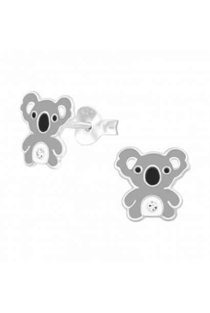 Zilveren oorstekers koala