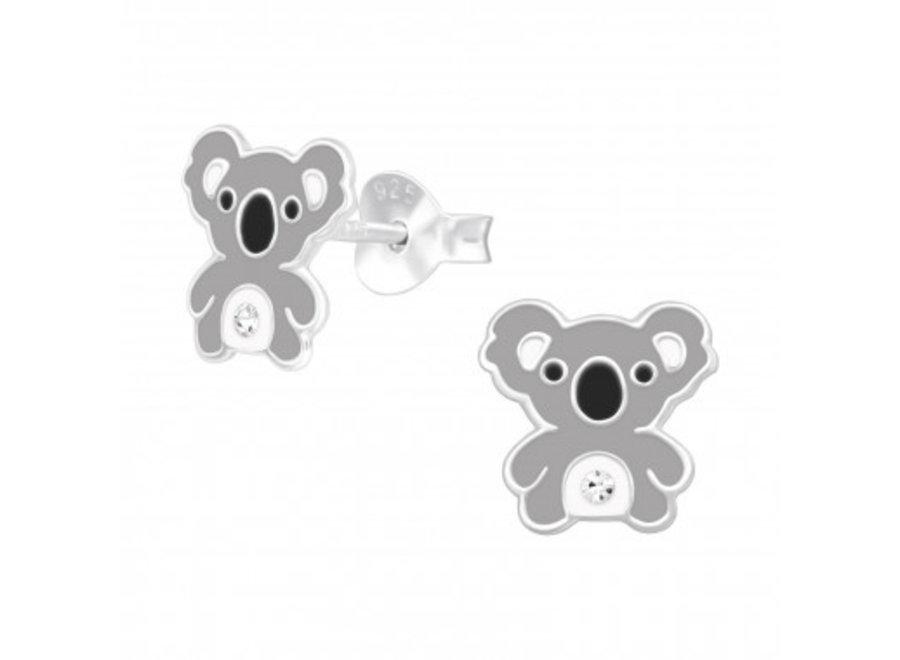Silver koala earrings