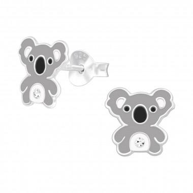 Silver koala earrings-1