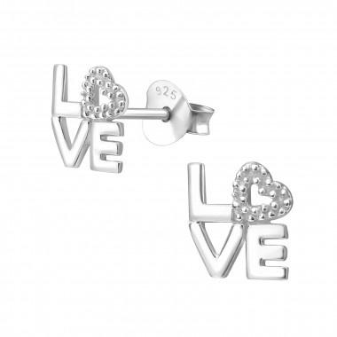 Zilveren oorstekers love-1
