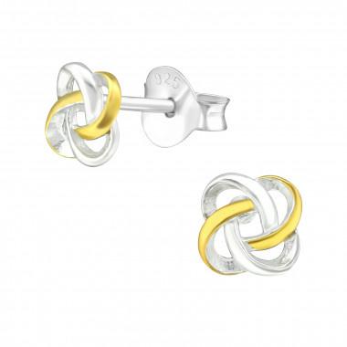 Zilveren oorstekers keltische knoop-1