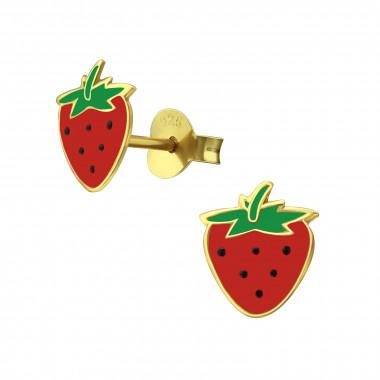 Ear studs strawberry-1
