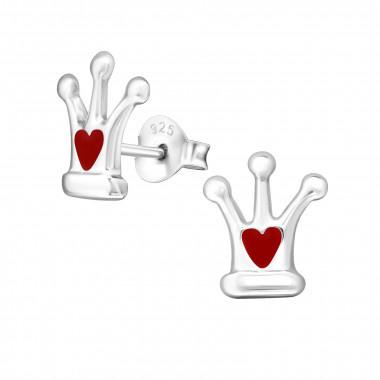 Zilveren oorstekers kroon-3