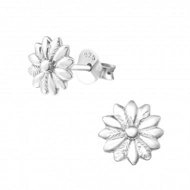 Zilveren oorstekers bloem-1