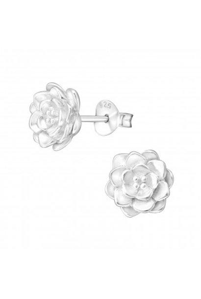 Zilveren oorstekers lotus bloem