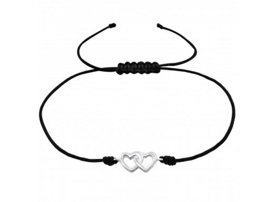 Adjustable bracelet hearts
