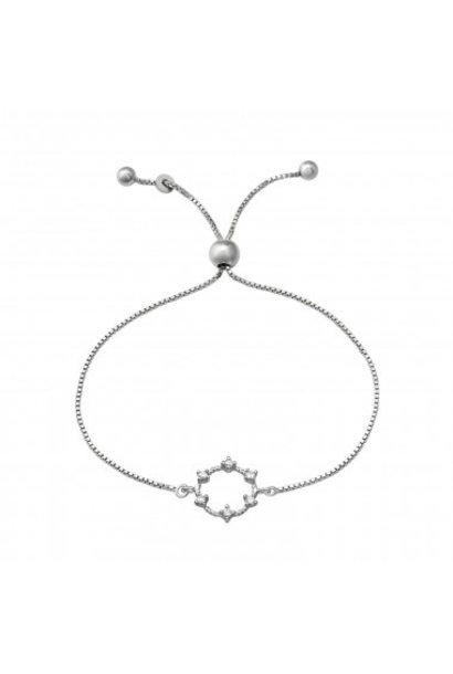 Zilveren armband met zirkonia-steentjes