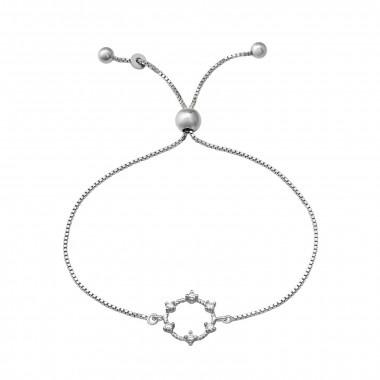 Zilveren armband met zirkonia-steentjes-1