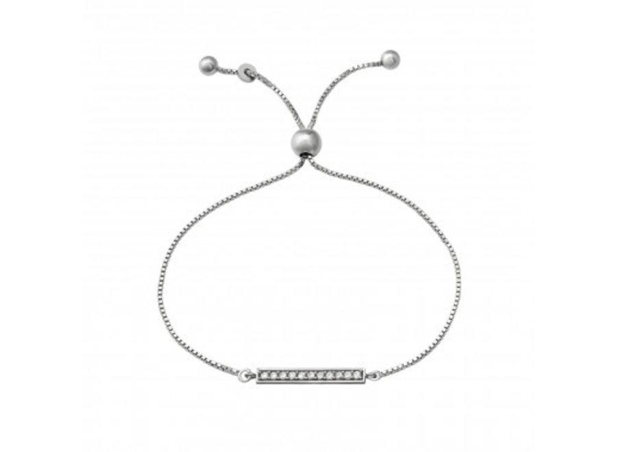 Zilveren armband met ingelegde zirkonia-steentjes