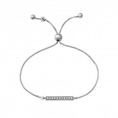 Zilveren armband met ingelegde zirkonia-steentjes-1