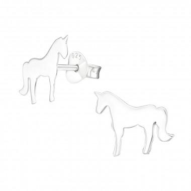 Zilveren oorstekers eenhoorn-1