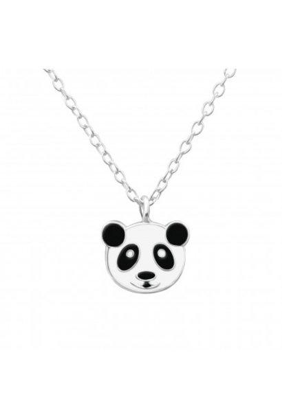 Zilveren ketting pandabeer