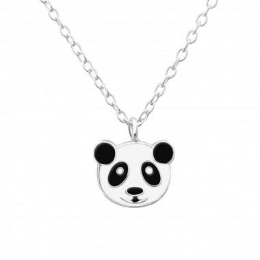 Zilveren ketting pandabeer-1
