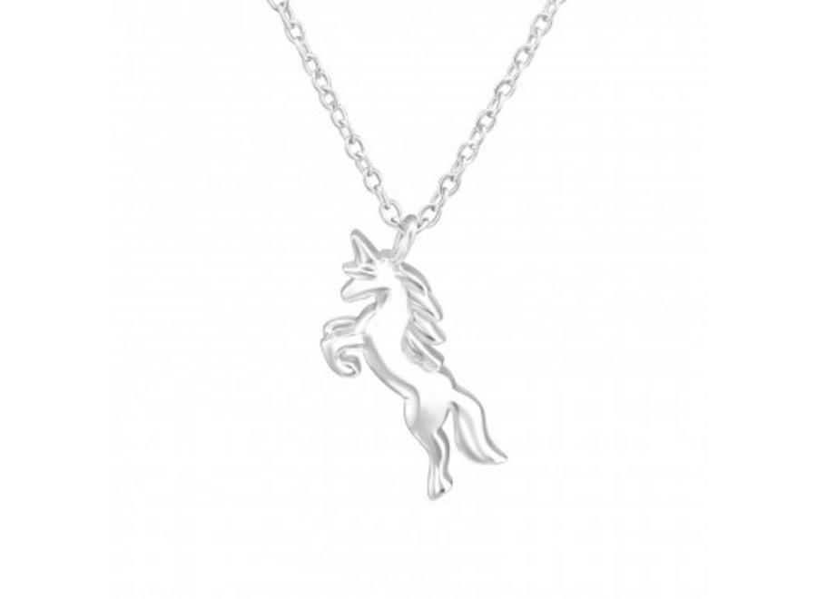 Zilveren ketting eenhoorn